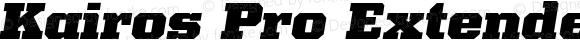 Kairos Pro Extended Black Italic