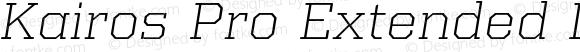 Kairos Pro Extended Light Italic
