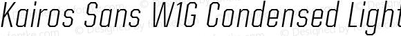 Kairos Sans W1G Condensed Light Italic