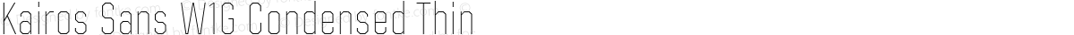 Kairos Sans W1G Condensed Thin