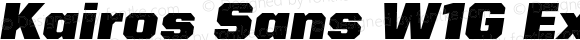 Kairos Sans W1G Extended Black Italic