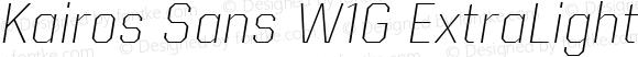 Kairos Sans W1G ExtraLight Italic