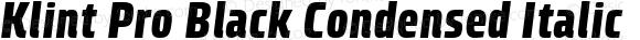 Klint Pro Black Condensed Italic