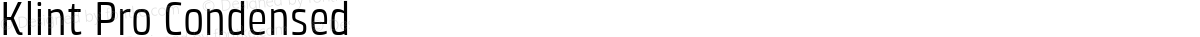 Klint Pro Condensed