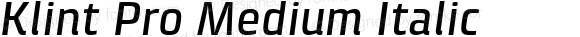 Klint Pro Medium Italic