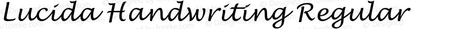 Lucida Handwriting Regular Version 1.00