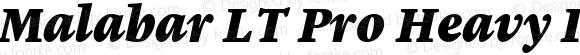 Malabar LT Pro Heavy Italic