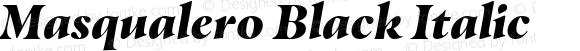 Masqualero Black Italic