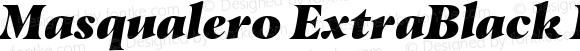 Masqualero ExtraBlack Italic