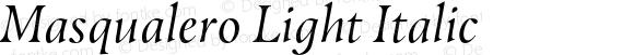 Masqualero Light Italic