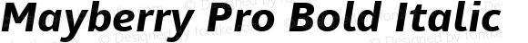 Mayberry Pro Bold Italic