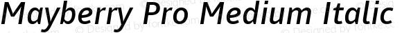 Mayberry Pro Medium Italic