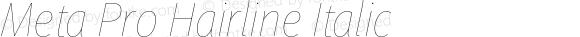 Meta Pro Hairline Italic