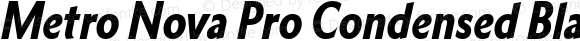 Metro Nova Pro Condensed Black Italic