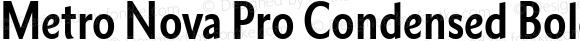 Metro Nova Pro Condensed Bold