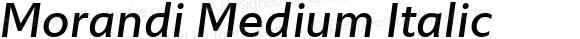 Morandi Medium Italic
