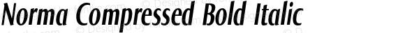 Norma Compressed Bold Italic