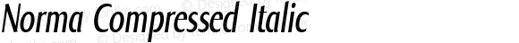 Norma Compressed Italic