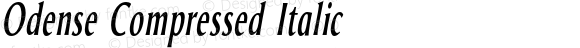 Odense Compressed Italic