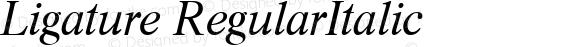 Ligature RegularItalic 1.0 Thu Nov 02 16:12:24 1995