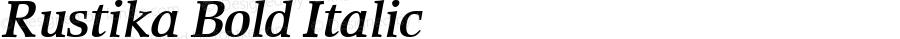 Rustika Bold Italic Version 1.00