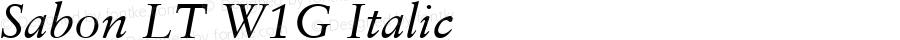 Sabon LT W1G Italic Version 1.00 Build 1000
