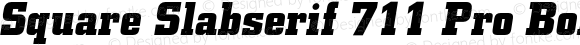 Square Slabserif 711 Pro Bold Italic