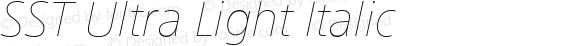 SST Ultra Light Italic