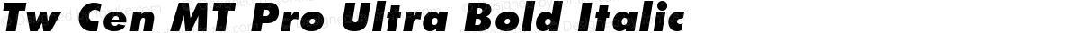 Tw Cen MT Pro Ultra Bold Italic