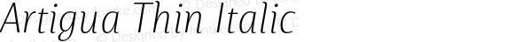 Artigua Thin Italic