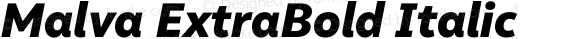 Malva ExtraBold Italic