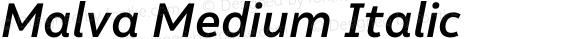 Malva Medium Italic