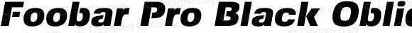 Foobar Pro Black Oblique