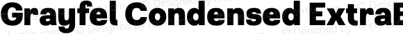 Grayfel Condensed ExtraBold