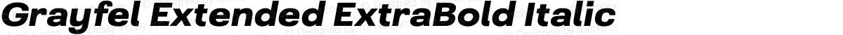 Grayfel Extended ExtraBold Italic