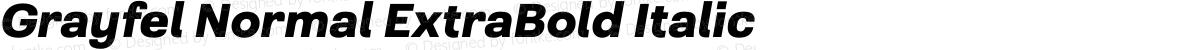 Grayfel Normal ExtraBold Italic