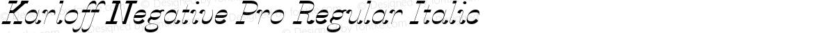 Karloff Negative Pro Regular Italic