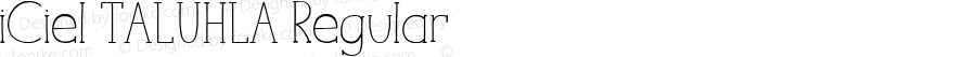 iCiel TALUHLA Regular Version 1.00 March 22, 2014, initial release