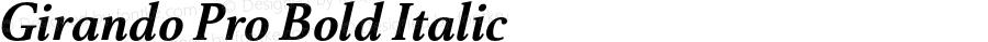 Girando Pro Bold Italic Version 1.003