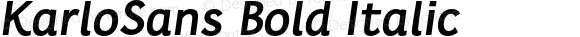 KarloSans BoldItalic