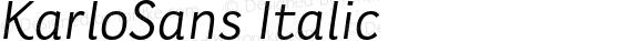 KarloSans Italic