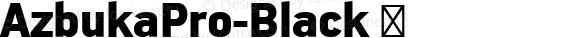 AzbukaPro-Black