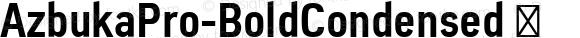 AzbukaPro-BoldCondensed