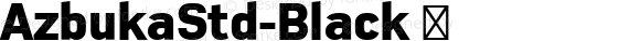 AzbukaStd-Black