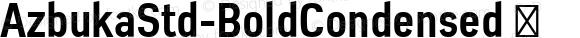 AzbukaStd-BoldCondensed