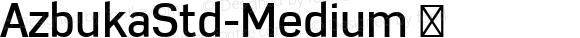 AzbukaStd-Medium
