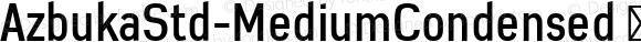 AzbukaStd-MediumCondensed