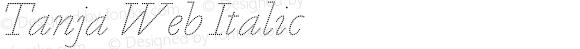 Tanja Web Italic