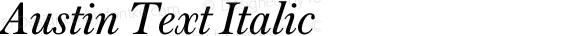 Austin Text Italic