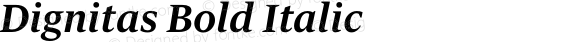 Dignitas Bold Italic